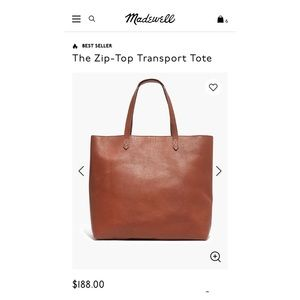 Madewell Zip-atop Transport Tote